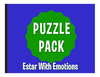 Puzzle packs are a fun, no prep way to review! With a variety of puzzles, you can allow students to differentiate by learning style or difficulty level. They also make great sub plans  the whole packet can easily fill an hour! All puzzles have been solved and checked and answer keys are included.This puzzle pack includes:1 crossword puzzle1 word search1 word scramble2 challenge puzzlesThis pack reviews basic present tense estar with emotions.