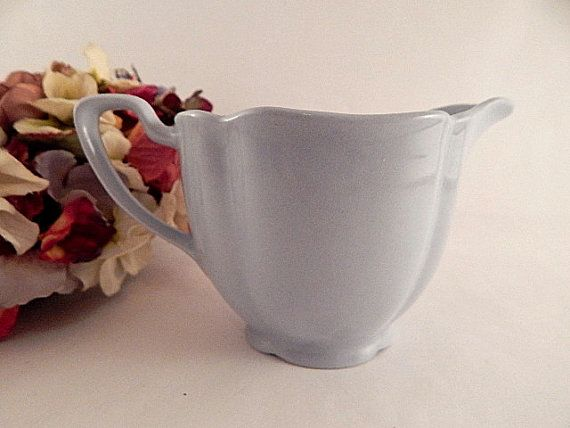 Creamer Blue Stoneware Sauce Serving Dish Art by TKSPRINGTHINGS