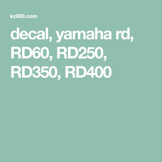 rd350 Yamaha rd250 rd400 pad wear indicator decals