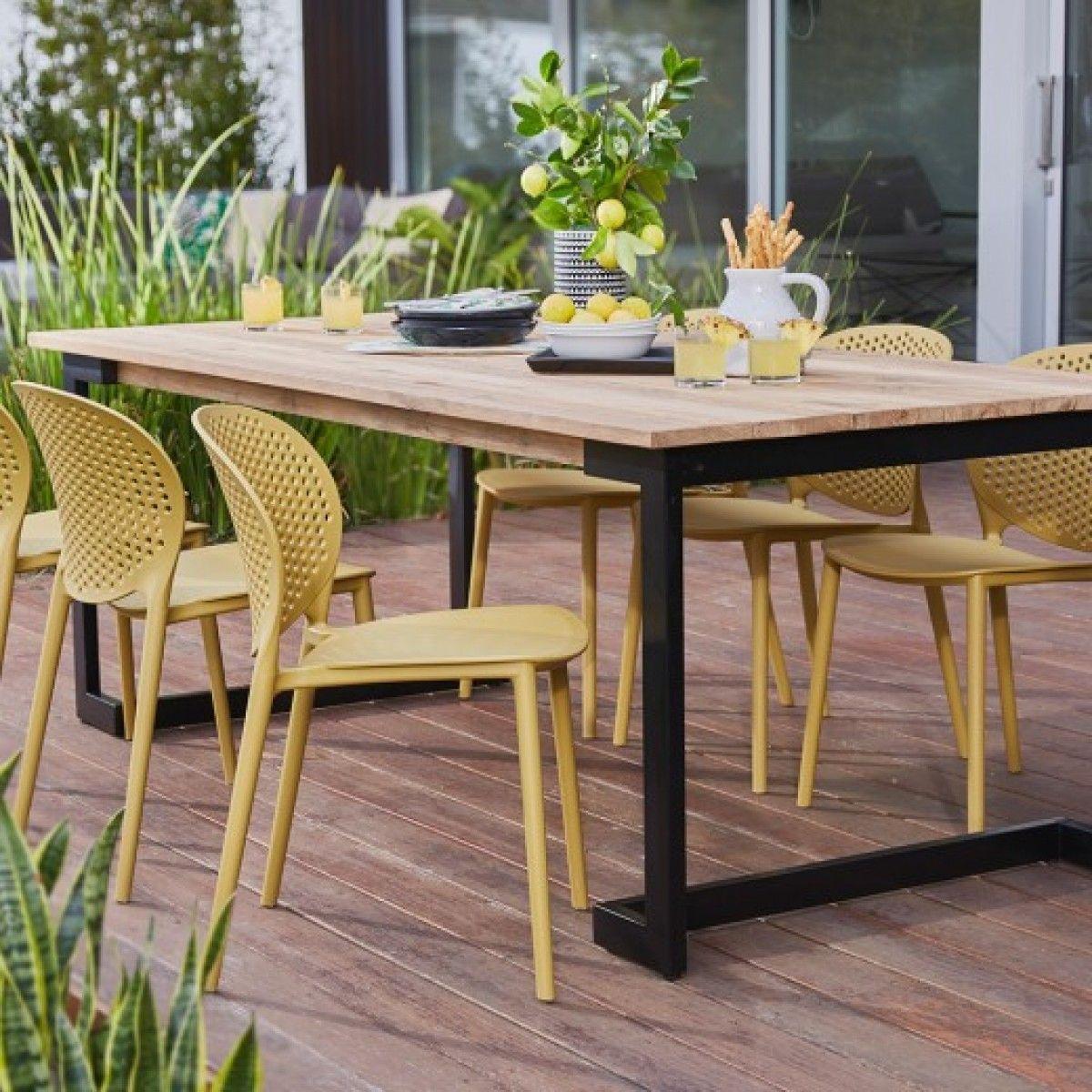 Axel reclaimed teak table 2200 x 1000 tables outdoor