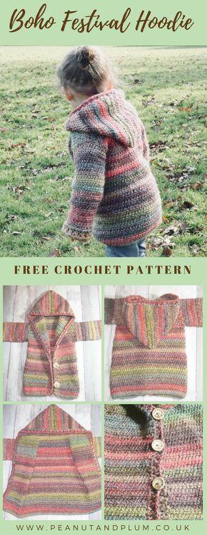 Crochet Boho festival hoodie -