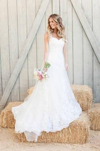 Romantic & Rustic Garden Wedding in California | Vestidos novia ...