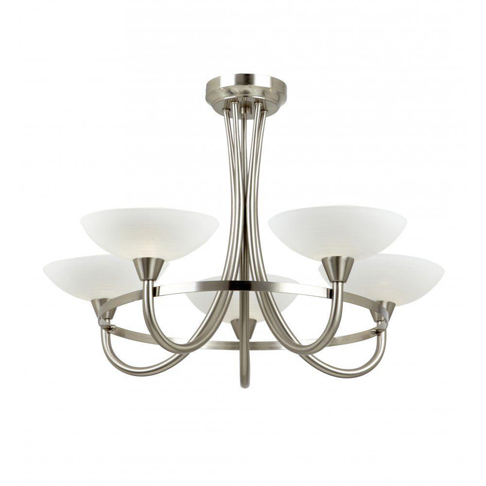Endon Bathroom Ceiling Lights endon cagney-5sc cagney 5 light ceiling light satin chrome