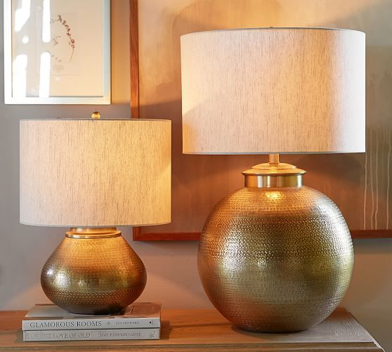 Nori Brass Hammered Table Lamp Bases   Pottery Barn/ the little ...