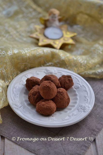 ♡ Fromage ou Dessert ? ... DESSERT !!! ♡: Truffes au chocolat blanc (IG bas - phase 1 - PL)