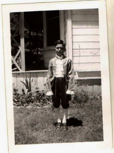 Old Vintage Antique Photograph Little Boy Wearing Victorian Outfit Ruffled Shirt
