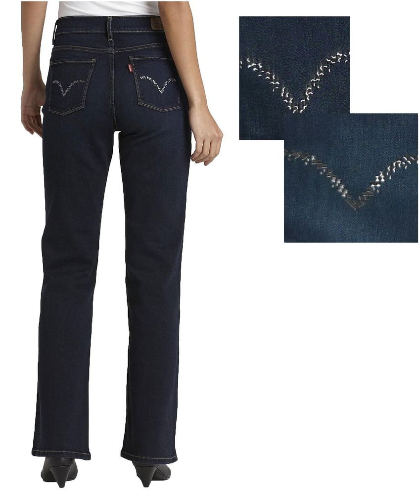 044cc35d30f1f Levi s 512 Women s boot cut jeans Perfectly Slimming dark 5 pockets ...