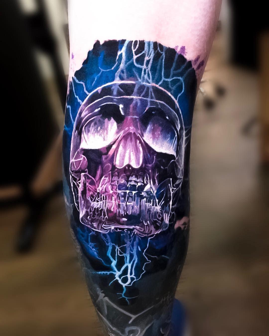 Skull Tattoo by Laky Tattoo