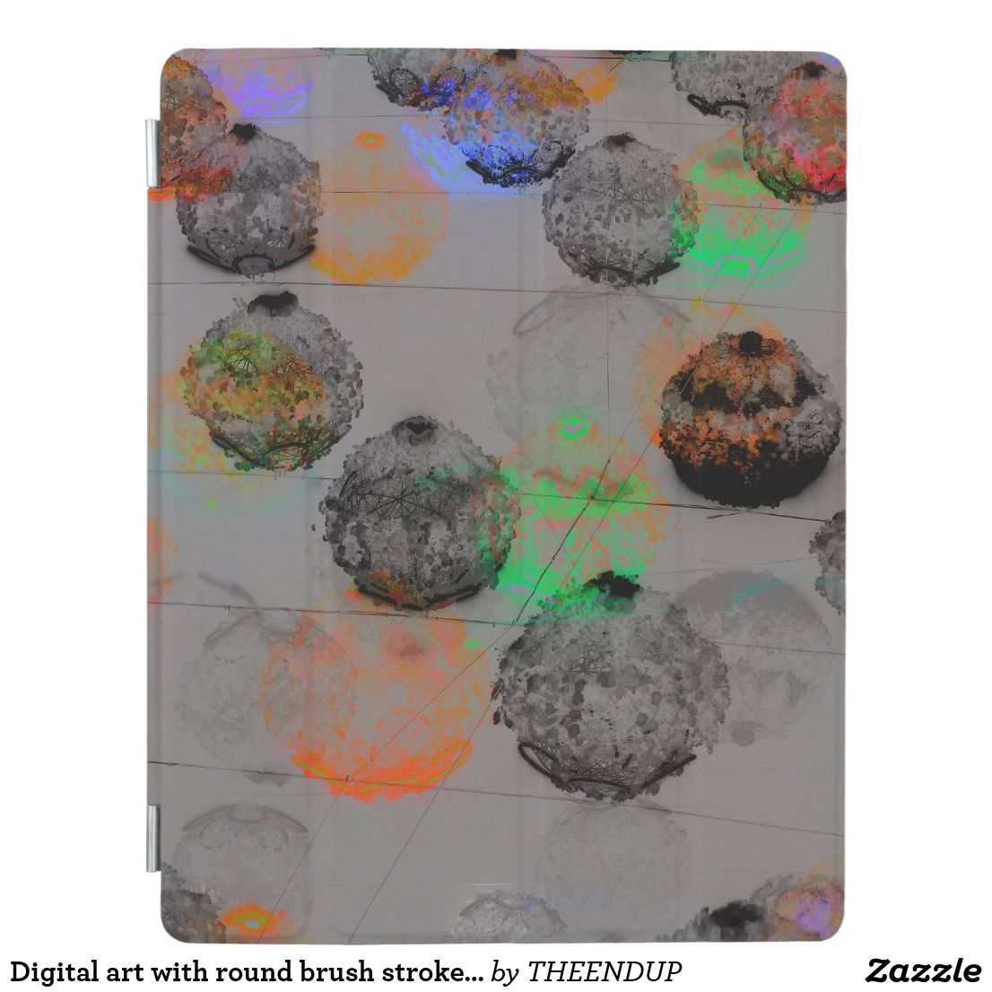 Digital Art With Round Brush Strokes Ipad Smart Cover