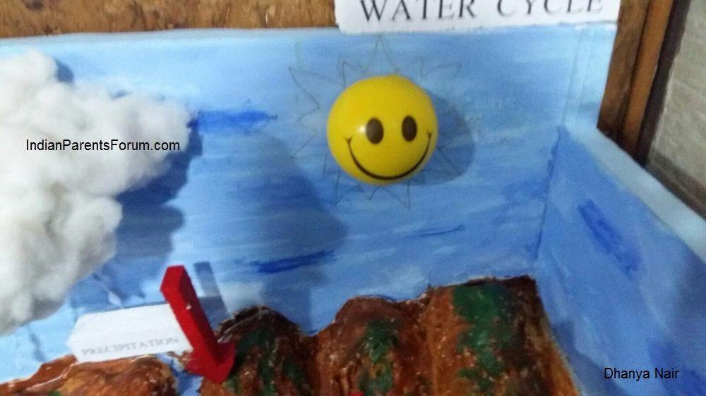 How To Make 3D Model Of Water Cycle | water cycle | Water cycle