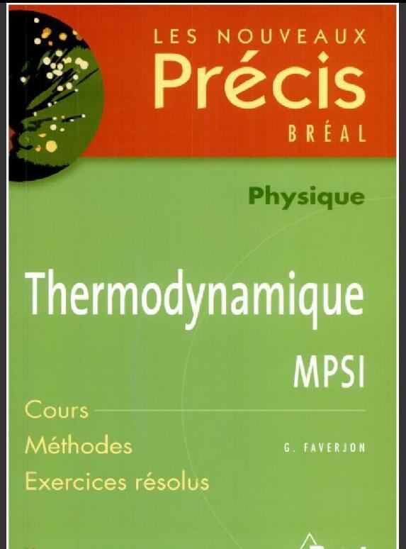 Telecharger Precis De Thermodynamique Mpsi Pdf Gratuitement Books Vocabulary Understanding