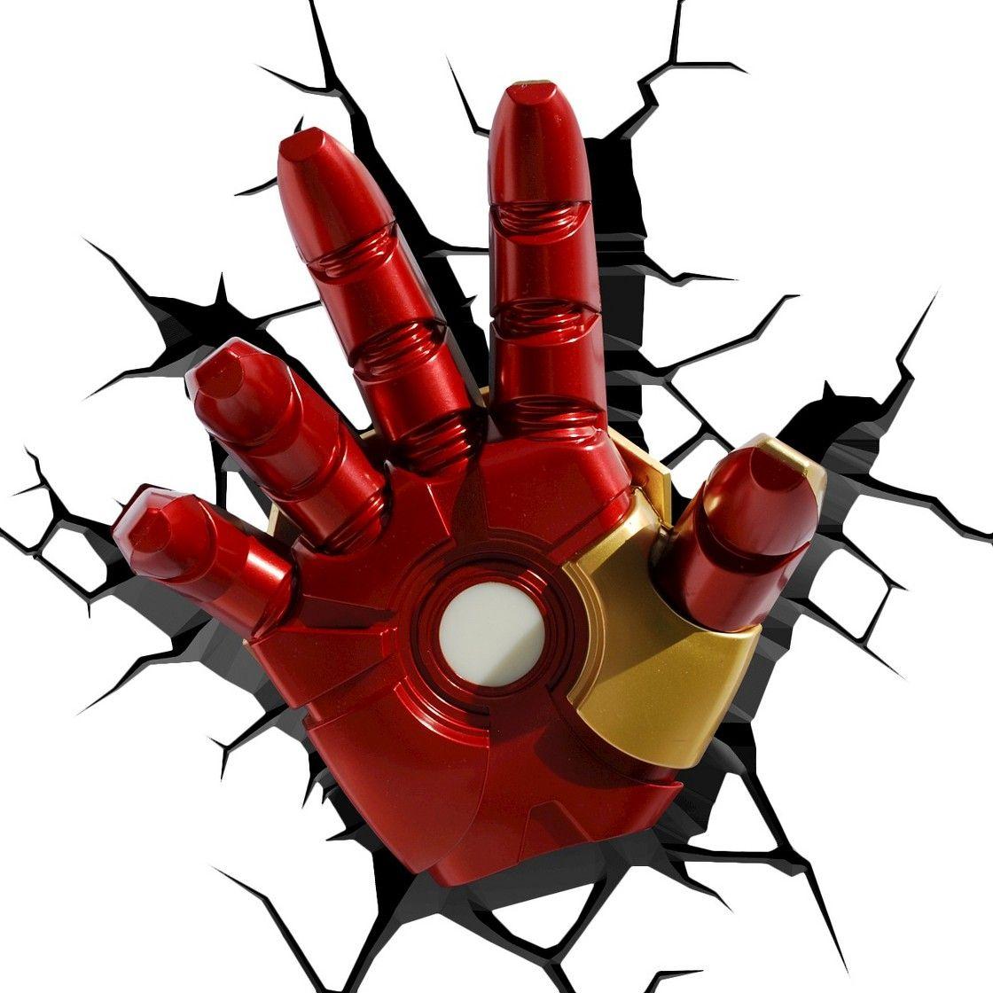 The Avengers 3D Wall Art Nightlight - Iron Man Hand  sc 1 st  Pinterest & The Avengers 3D Wall Art Nightlight - Iron Man Hand | Birthdays ...