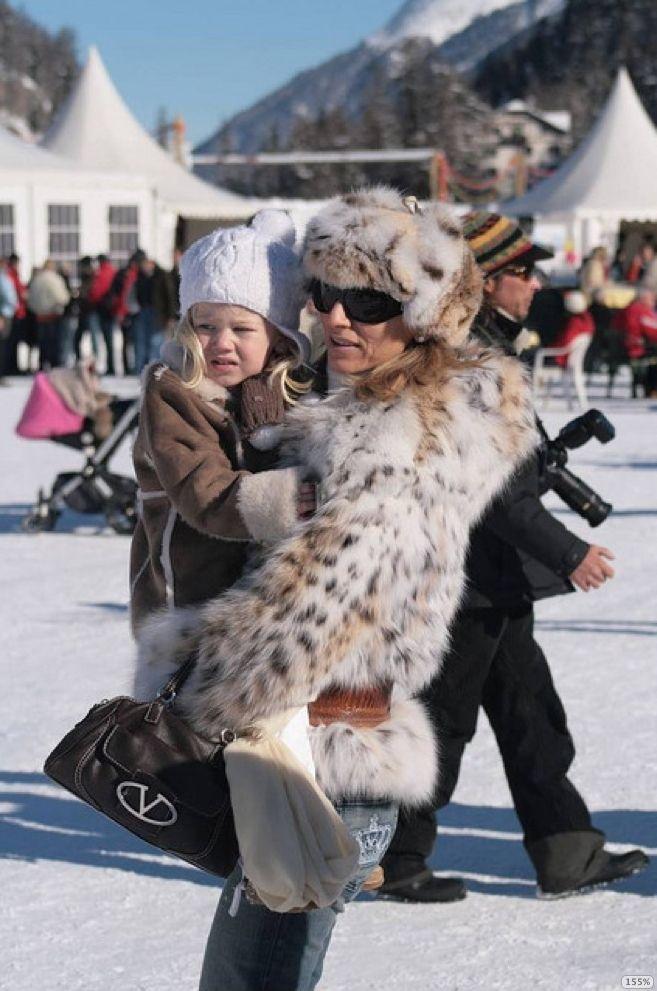 St.Moritz fur resort+russian snow polo