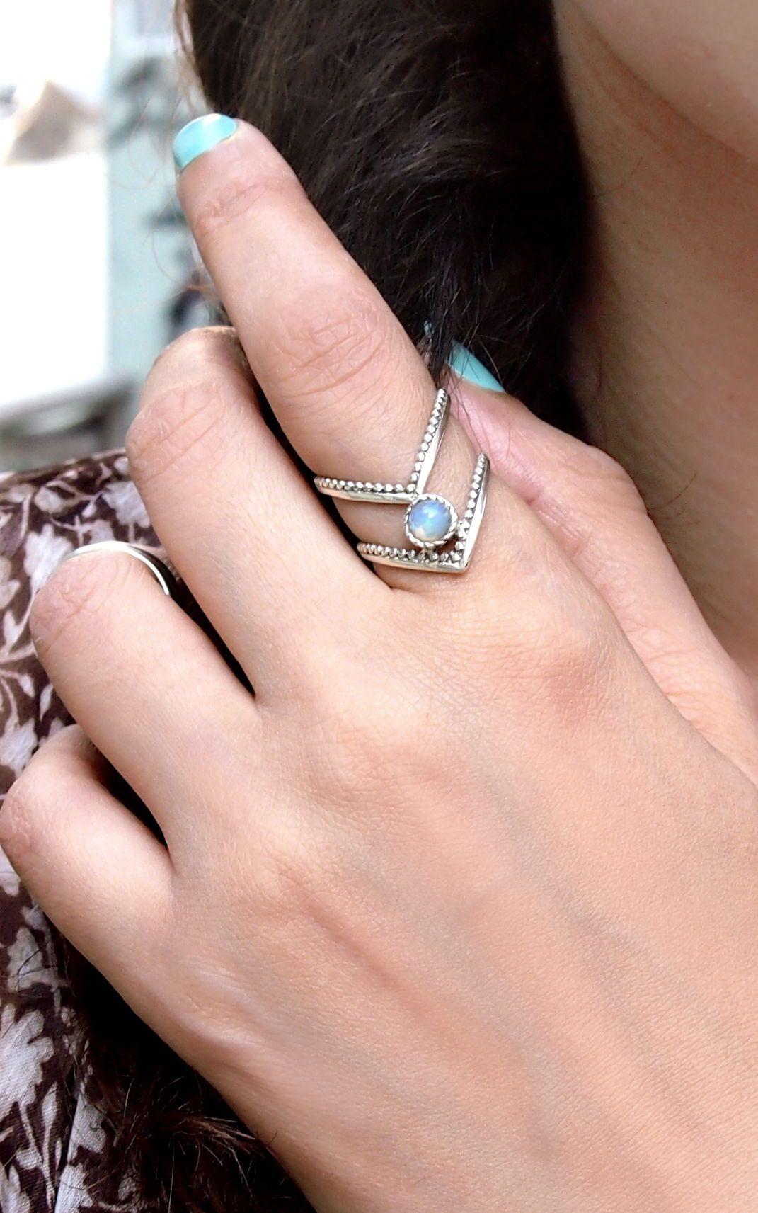 Silver Opal Ring #gemstonejewelry