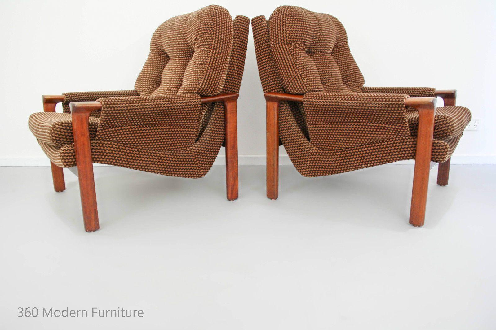 Mid Century Tessa T21 Armchairs X2 Retro Vintage Lounge