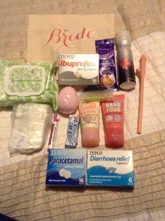 My Diy Hen Survival Bag For The Bride So Far
