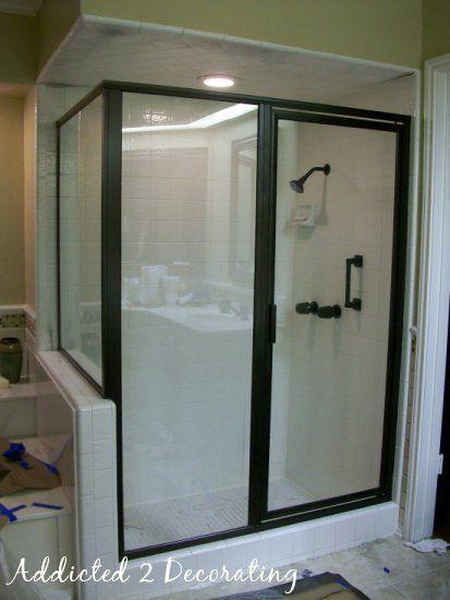 Updating brass shower doors
