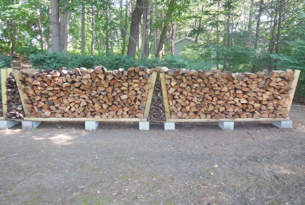 Firewood Rack Using No Tools Landscaping Structures