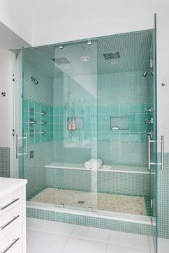 green, clean and fresh spa-like shower | leslie fine