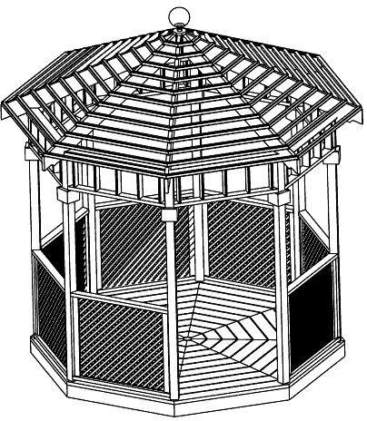 Sample Gazebo Plans 03 10 Ft Open Air Gazebo Immediate Download