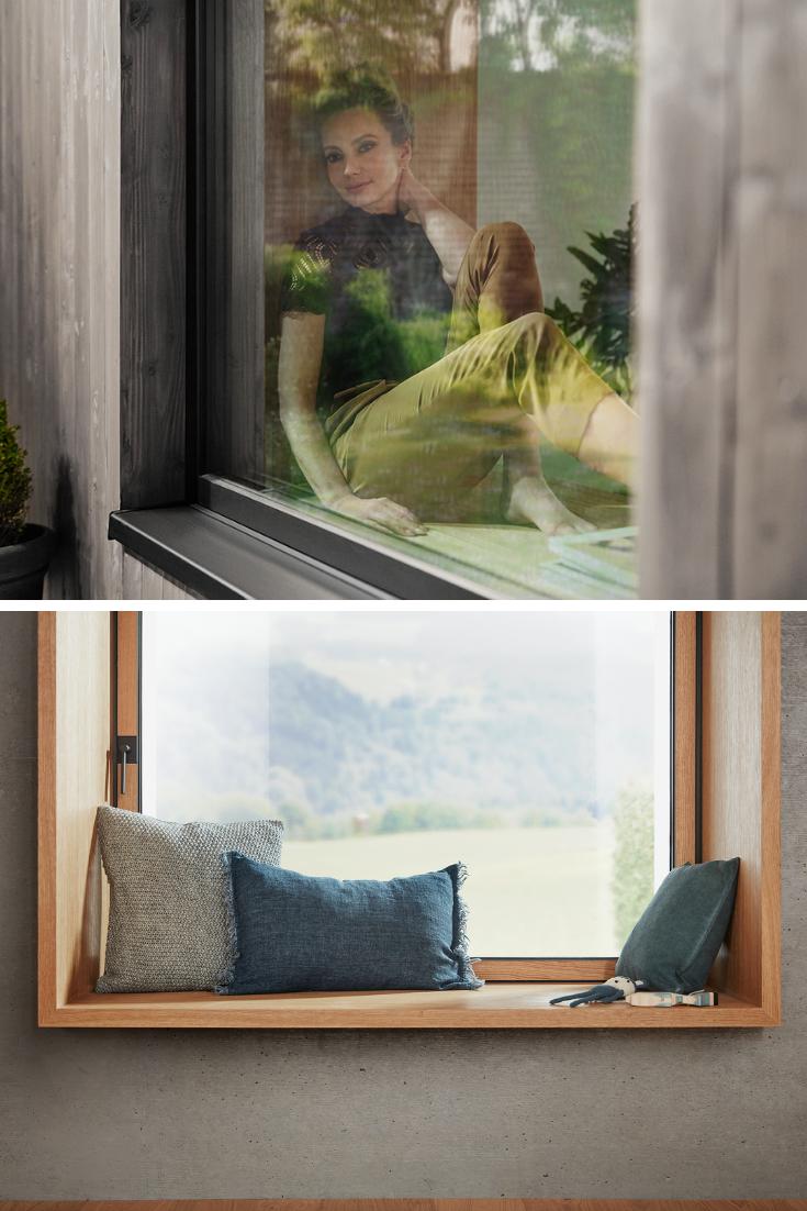 Dieses gemütliche Sitzfenster mit breiter Fensterbank lädt