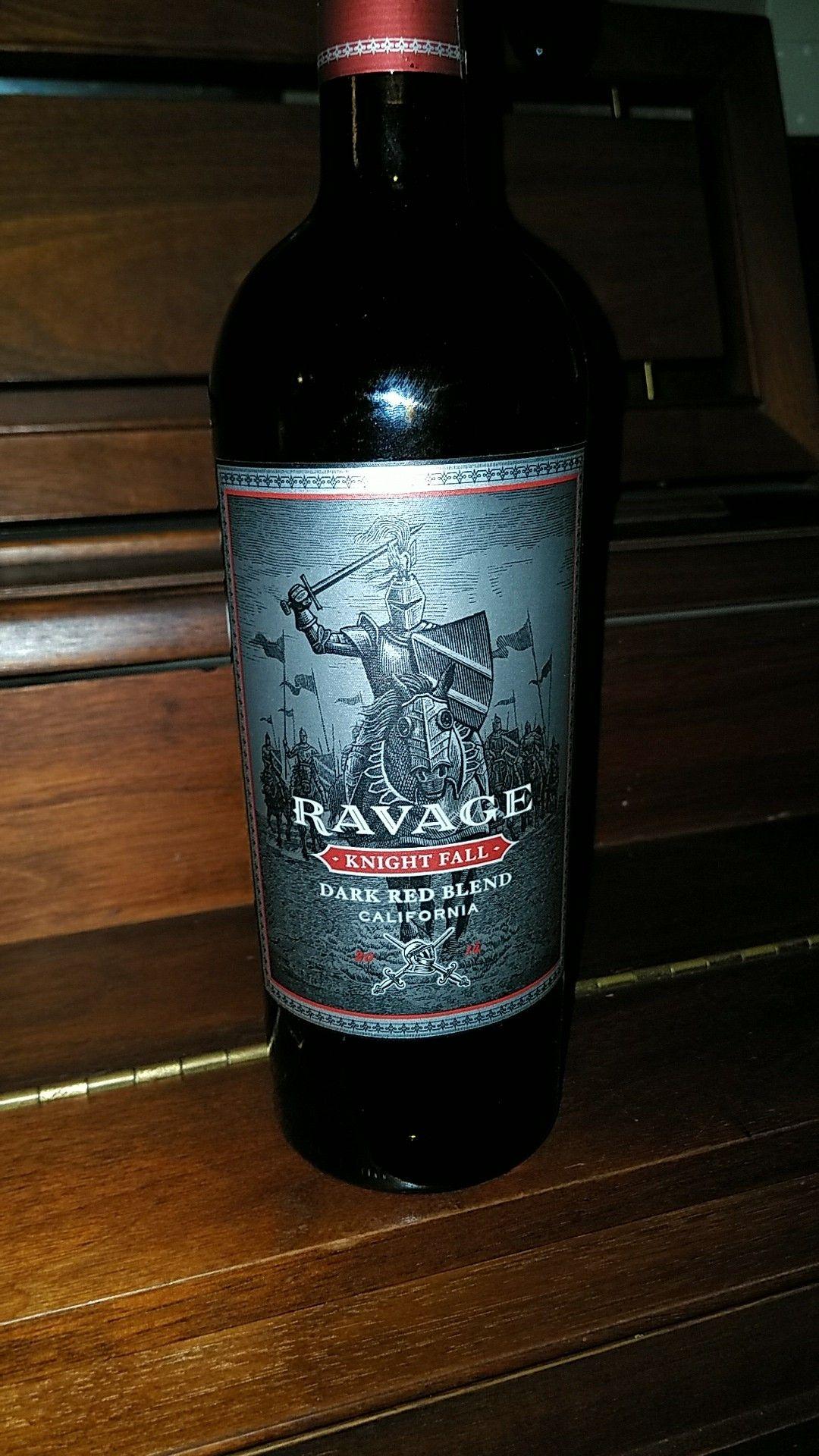 Ravage - Knight Fall Dark red blend California Sam\'s Club St Louis ...
