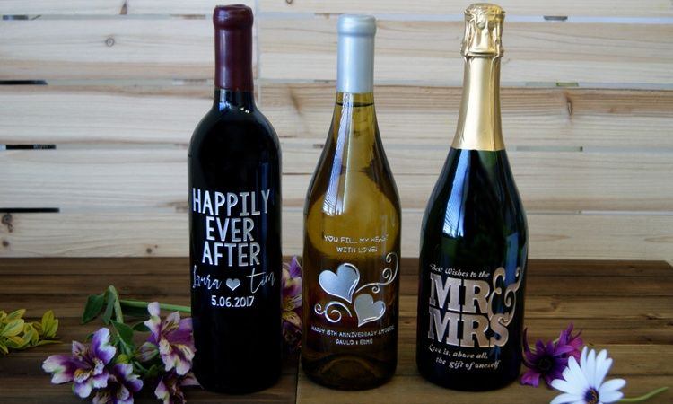 Personalized Engagement Wine Gift Custom Wine Labels Wedding Gift