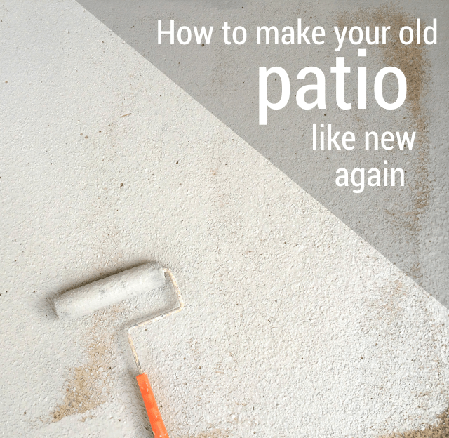 How To Make Your Patio Look New Again For Less Than 100 Concrete Patio Makeover Patio Makeover Paint Concrete Patio