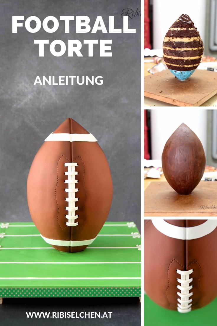 FOOTBALL TORTE: eine stehende 3D-Football Torte