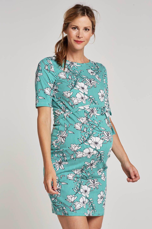 cac9af7003486b MAMA-LICIOUS positie jurk met strepen en bloemen  wehkamp  pregnant   zwanger