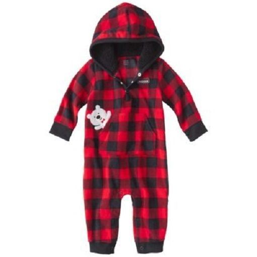7b57d42ab814 Baby Boy Child of Mine by Carters Sherpa Lined Hooded One Piece ...