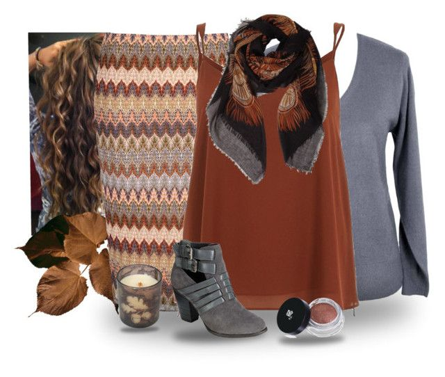 """""""Fall Browns"""" by mary-grace-see ❤ liked on Polyvore featuring Glamorous, River Island, Humble Chic, WoodWick, Lancôme, Beston, women's clothing, women, female and woman"""