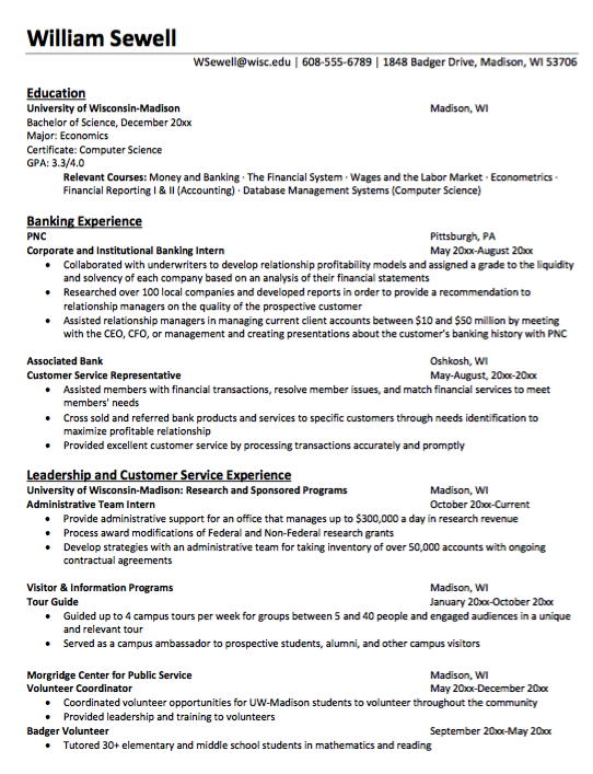New Economics Major Resume Sample httpresumesdesigncomnew