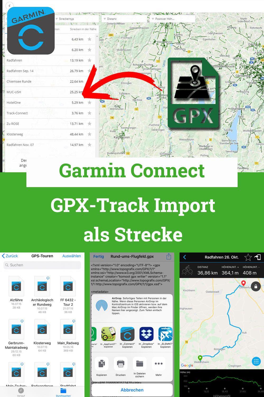 GPX-Track Import nach Garmin Connect | Fahrradnavi Tipps und