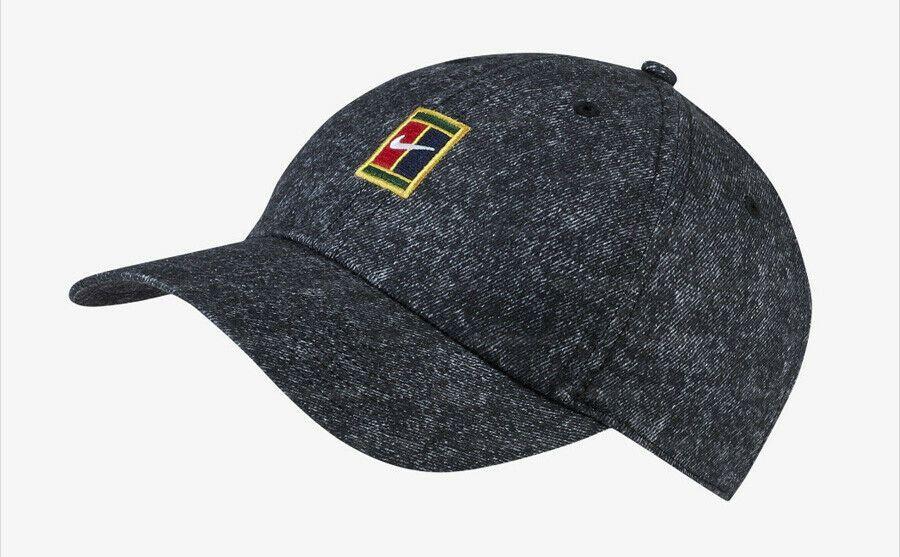 Nike Court Aerobill Heritage 86 Tennis Hat Cap Badminton Black Nwt Av6965 010 Nike Tennishat Badminton Hats Leather Bomber