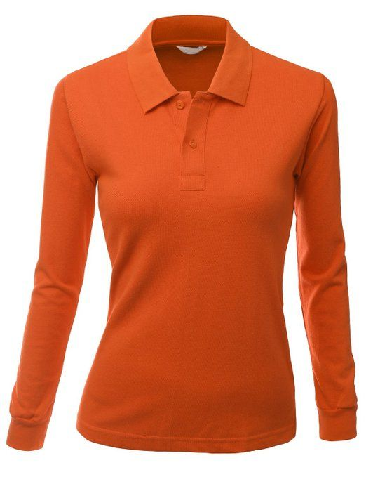 d3561314 Tightly weaved fabric on this womens luxurious PK long sleeve golf polo  shirt by Xpril provides great tension and elasticity