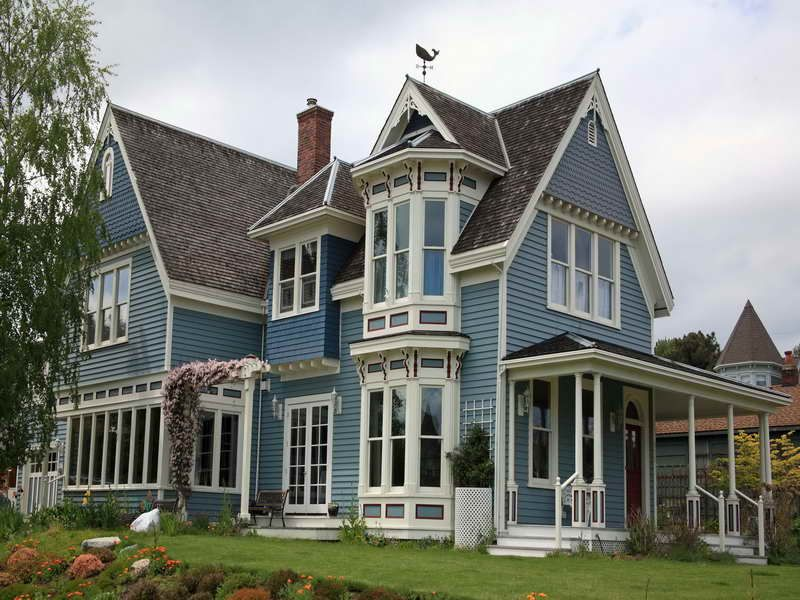 Victorian House Colors Home Builders With Blue Color