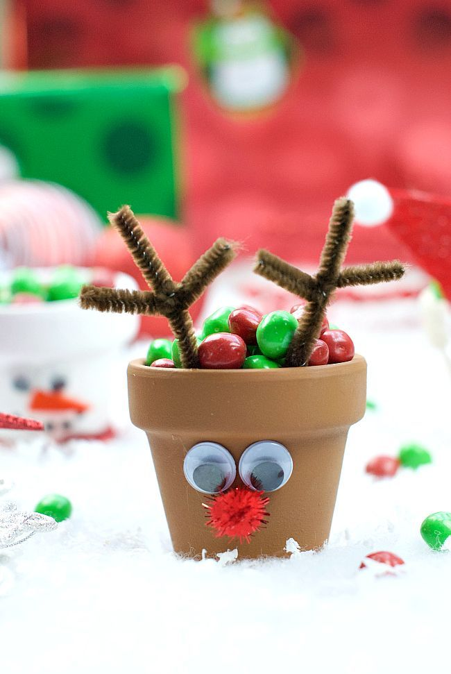 Holiday character candy pots christmas characters for Christmas craft ideas for 6 year olds