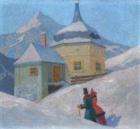 Spaziergang durch eine Winterlandschaft by Carl Krall