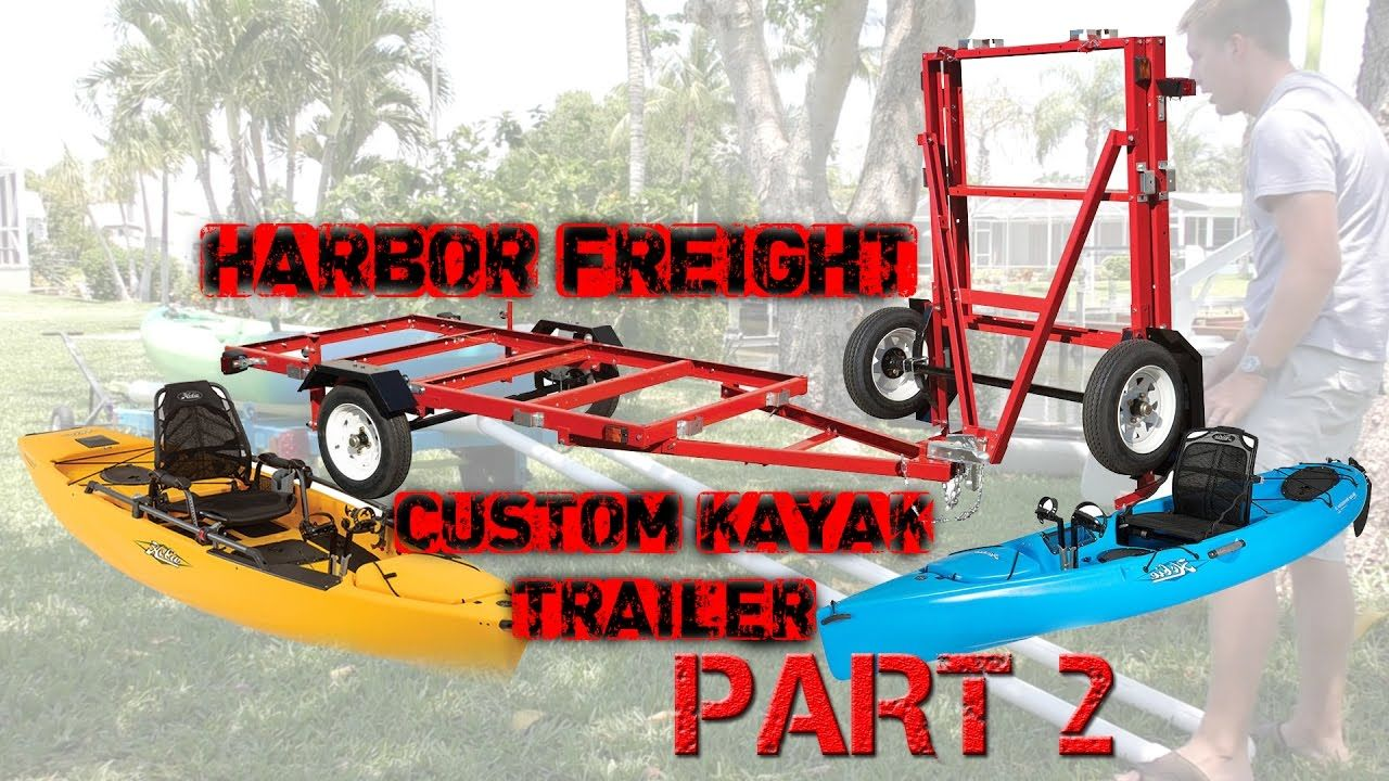 Custom Harbor Freight Kayak Trailer with Telescoping Bunks