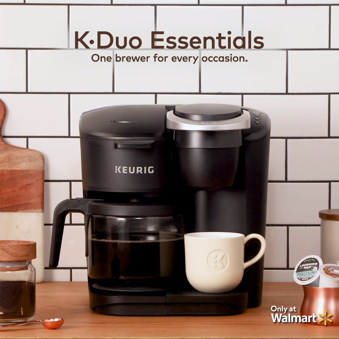 Keurig K Duo Essentials Coffee Maker With Single Serve K Cup Pod
