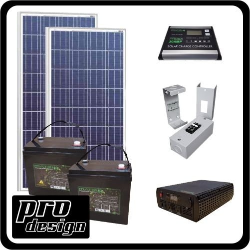 PWM   320W/12V Off Grid Solar Cabin Kit, Located: Calgary,