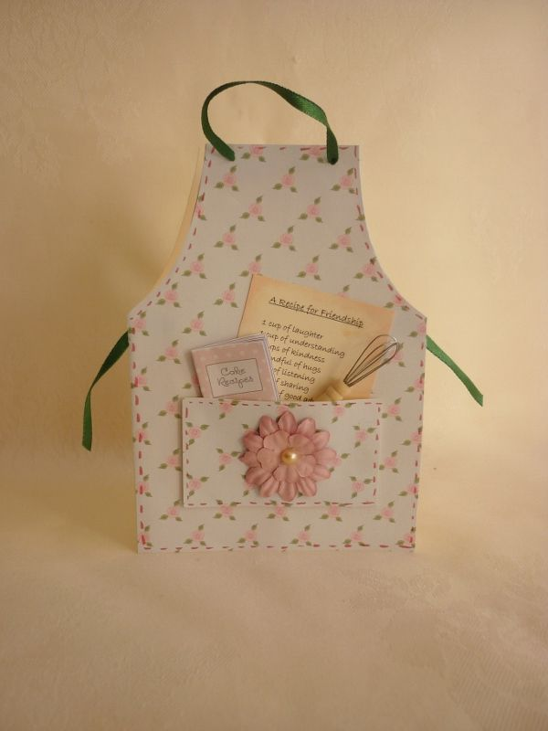 New Card Template  Apron Cards  Crafts    Card
