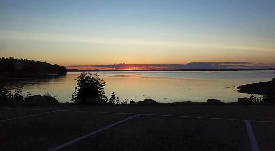 Sunrise in Bar Harbor, ME. 1st place in US to see the sun rise.