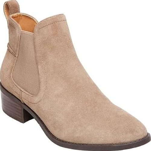 f26508065f5 Steve Madden Dicey Ankle Boots Shown in Taupe Suede. From the women s ankle  boots