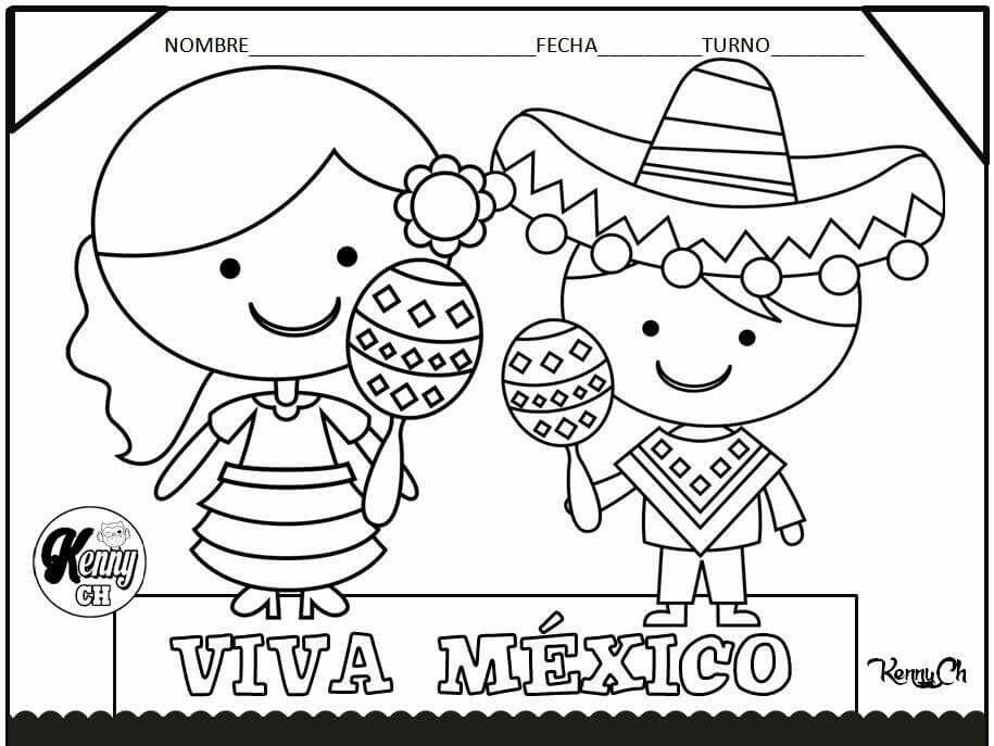 Viva México Septiembre Preescolar Dibujo De Escuela Y