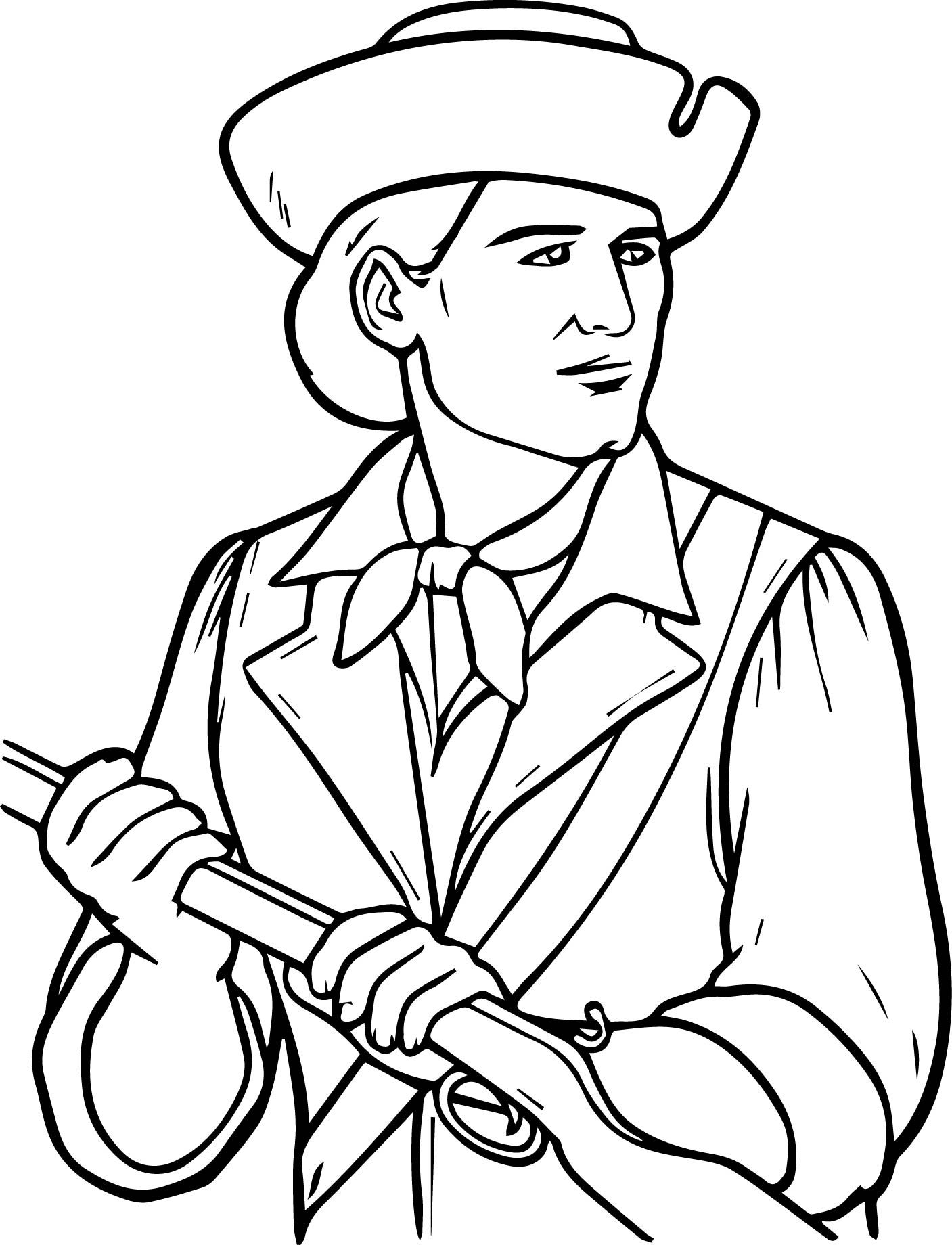 Awesome Usa Printables The Minutemen Coloring Pages America