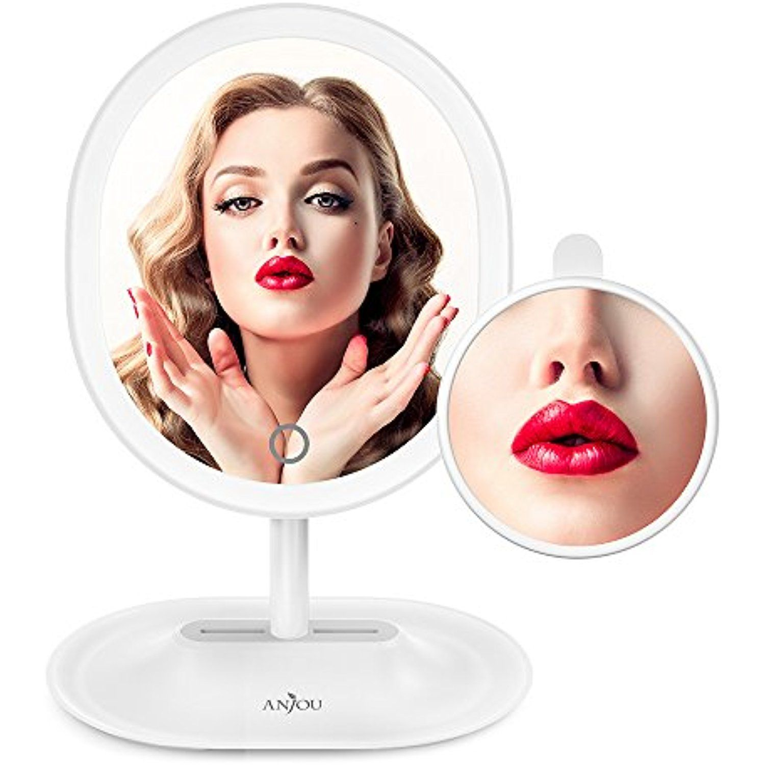 Makeup Mirror Rechargeable LED Lighted with 1X / 5 X