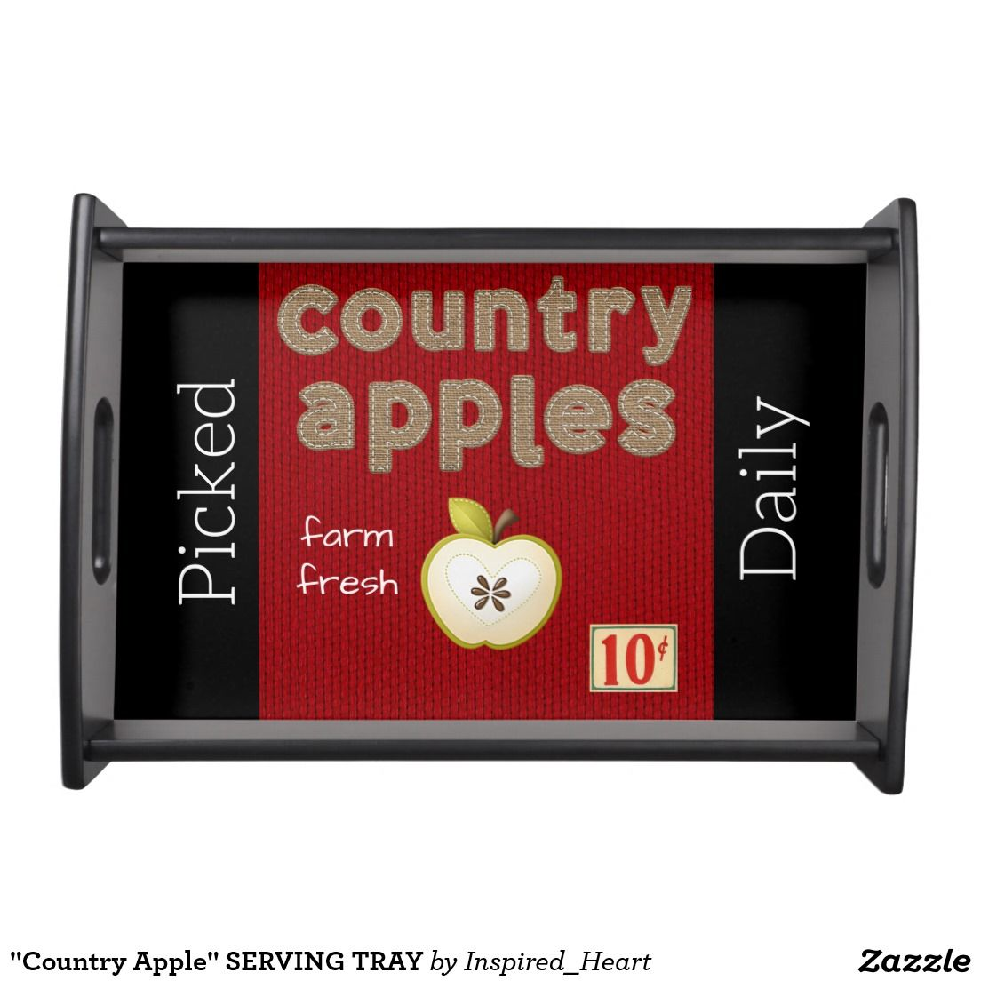 """Country Apple"" SERVING TRAY"