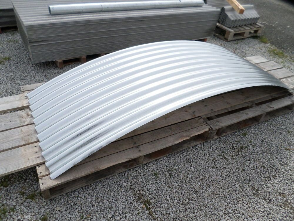 Brand New Galvanised Steel Corrugated Curved Roofing Sheets For Shepherds Hut Shepherds Hut Roofing Sheets Galvanized Steel